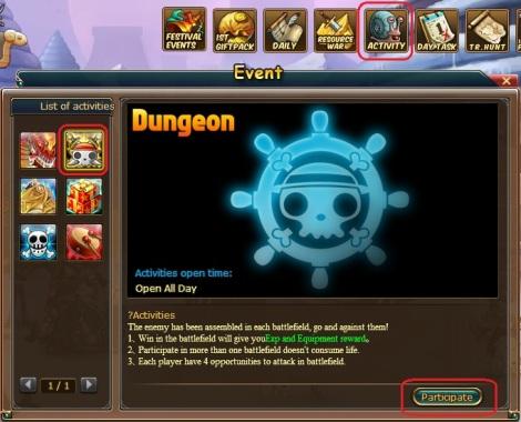 1. battle team dungeon