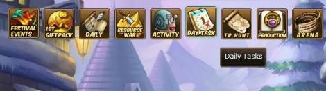 1. menu day task pirate king