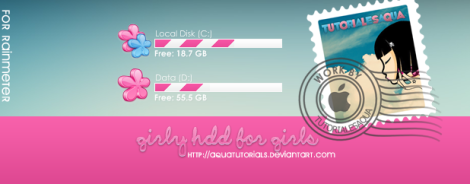 hdd girl skin rainmeter desktop