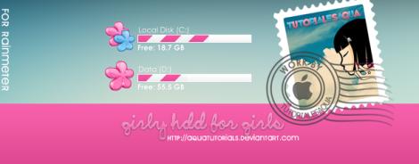 hdd girl skin rainmeter desktop