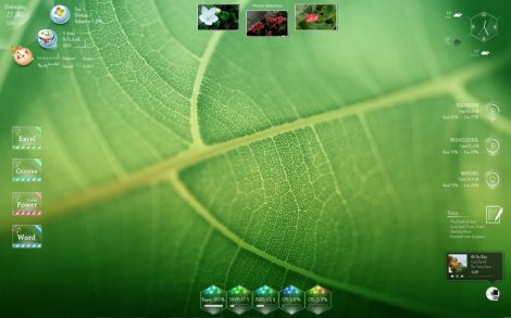 rainmeter with photo slideshow
