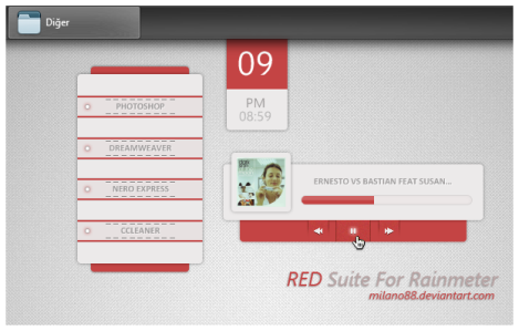 red skin rainmeter merah