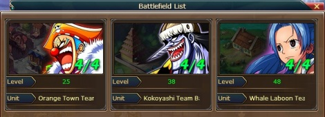 2. battle field list pirate king