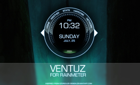 skin rainmeter jam keren
