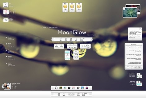 rainmeter skin with docklet