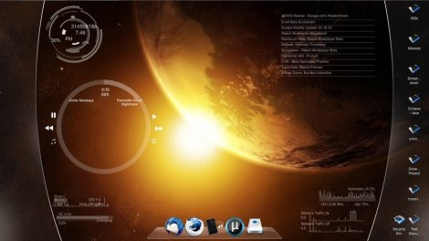space view rainmeter skin