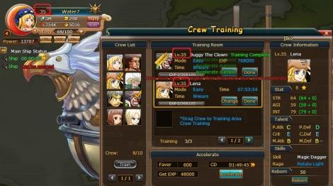 cara mempercepat naik level crew member pirate king