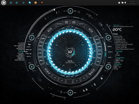 tech-A rainmeter skin