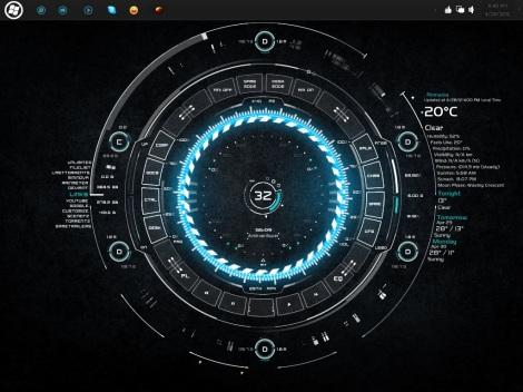 tech-A rainmeter skin