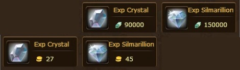 1. exp silmarillion dan exp crystal anime pirate king