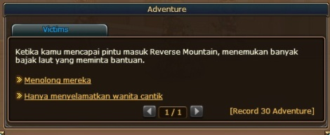 1. daftar pertanyaan dan hadiah sailing di pirate king