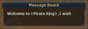 1. message board pirate King
