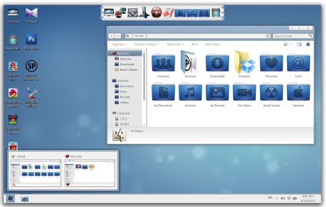 2. wave skinpack for windows 7