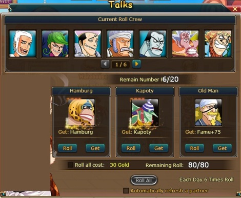 tips pancingan roll crew di pirate king