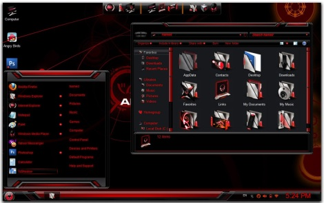1. alienware theme pack for windows 7