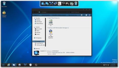 1. black doff windows 7 theme