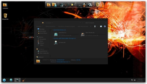 1. full black theme pack for windows 7