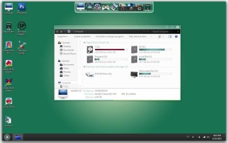 1. gaia theme for windows 7