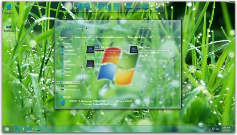 1. glass theme for windows 7