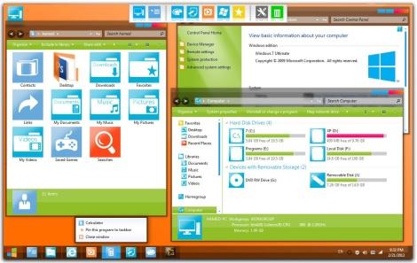 1. glossy metro style theme for windows 7