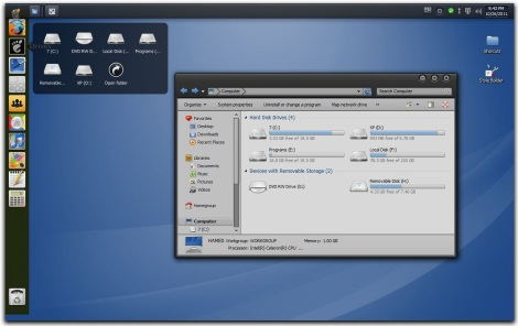 1. gnome skinpack for windows 7