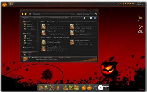 1. halloween theme for windows 7