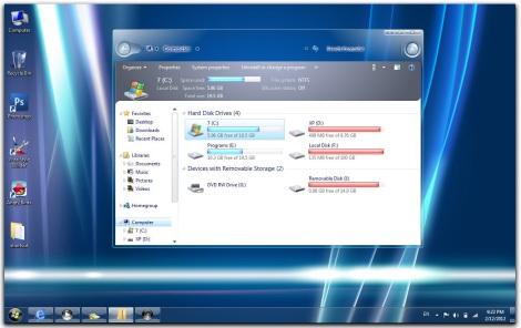1. longhorn theme pack for windows 7