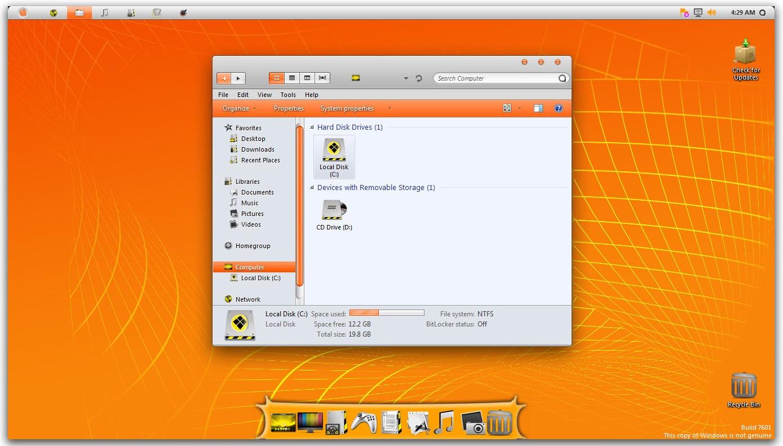 Image result for Orange Skin Pack windows 7