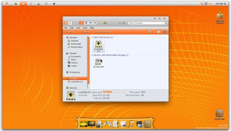1. orange osx skin pack for windows 7