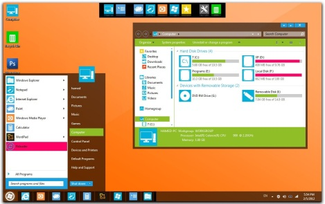 1. Windows 8 theme for windows 7