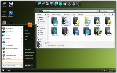 2. black icon theme pack for windows 7