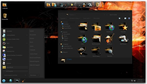 2. full black theme for windows 7