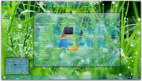 2. full glass theme for windows 7