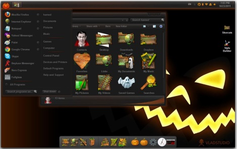 2. halloween theme pack for windows 7