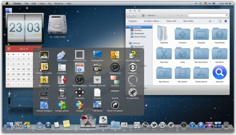 2. mengubah windows 7 menjadi apple mac lion
