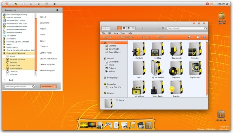 2. Orange osx theme pack for windows 7