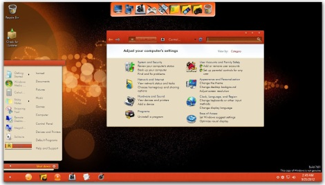 2. orange skin pack for windows 7
