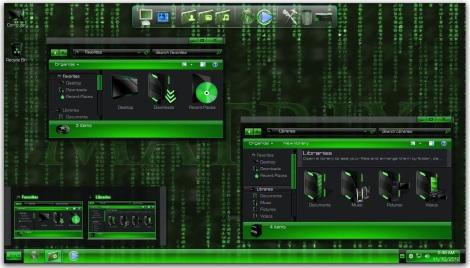 2. tema the matrix buat windows 7