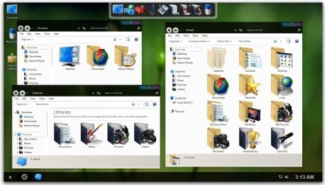 2. tema warna hitam dan ungu untuk windows 7