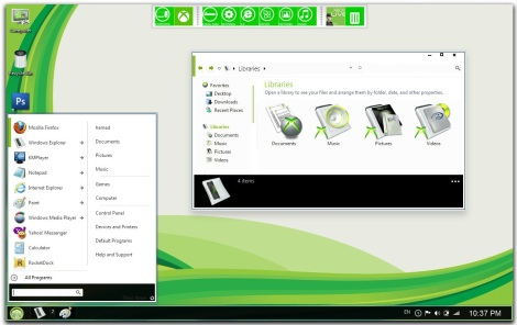 2. windows 8 (metro) theme for windows 7