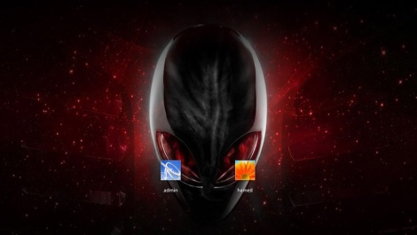 3. alienware login screen for windows 7