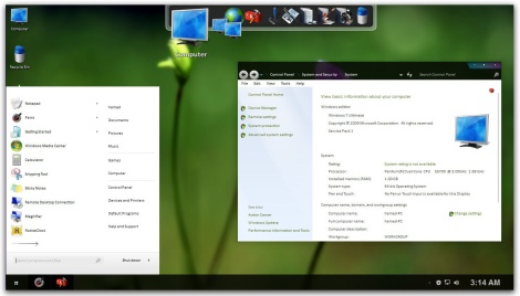 3. black purple skin pack for windows 7