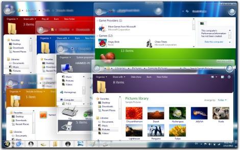 3. full glass theme for windows 7