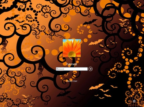 3. halloween theme login screen for windows 7