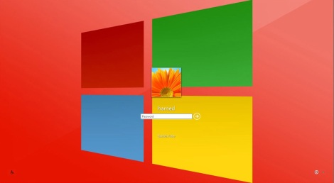 3. metro glossy theme login screen for windows 7