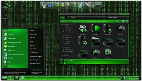 3. the matrix theme pack skinpack for windows 7