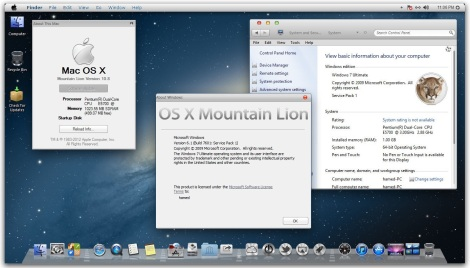 3. transform win 7 to mac lion