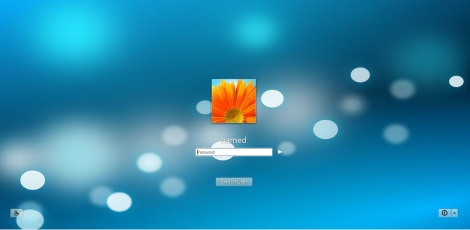 4. blue login screen for windows 7