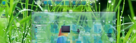 5. glass theme for windows 7
