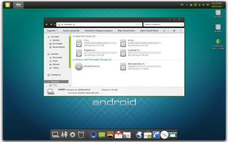 1. Android theme for windows 7